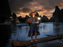 Age old (Jay Daley) Tags: asia nikon liriver sunrise cormorants cormorant guilin fisherman china