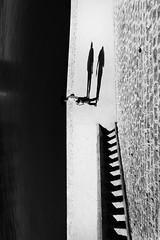 River & Steps (www.joteasdalephotography.com) Tags: rencontresdelaphotographie france fuji fujixt1 monochrome bw blackwhite blackandwhitestreet urban urbanstreetphotography urbanarte contrast light shadows negativespace