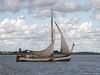 Netherlands - Single Mast Sailing Barge on The Markermeer (JimP (in Sarnia)) Tags: netherlands markermeer sailing barge