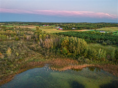 (Daniel000000) Tags: farm lake dji spark drone uav landscape sky clouds fall green wisconsin midwest north northwoods farmland field fields sunset