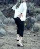 Capri rear end send (Blonde Karyn Heels) Tags: bare feet crossdress outdoors public capris anklet