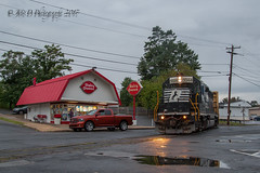 There's That Dairy Queen Again!!!! (Darryl Rule's Photography) Tags: 2017 aestaley buckscounty csaodelmorrave clouds cloudy conrail conrailsharedassets emd freight freightcar freighttrain freighttrains gp402 local morrisville ns nightevening norfolksouthern pa pennsy pennsylvania pennsylvaniaave pennsylvaniarailroad rain rainy september staley staleylocal summer tankcar tankcartrain tankcars tankers