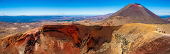 New Zealand - Tongariro (Leni Sediva) Tags: newzealand tongariro crossing hiking volcano vulcano nature landscape zealand czechoutmytravels czechgirl panorama background backpacking perspective oceania mountains canon view crater red ngauruohe