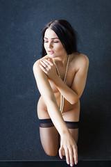 Celeste (Pdooma) Tags: celeste celestelady brunette pearls fashion stockings implied suggestive provocative provacateur