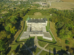 Aerial of pidhirtsi castle