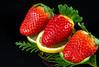 capsuni (silviu_z) Tags: fruits nikon food strawberry red yellow green closeup macro details d800 nikkor lemon lime
