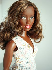 Black Curvy Barbie (Deejay Bafaroy) Tags: curvy barbie doll puppe mollig fashionistas mattel black schwarz portrait porträt