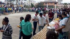 Refrigerio en el encuentro de jovenes de confirmacion en la parroquia de la Stma. Trinidad de Guayacan