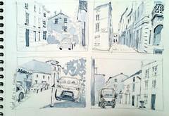 Niort, rue du petit banc (Croctoo) Tags: croctoo croctoofr croquis aquarelle watercolor niort poitoucharentes poitou ville