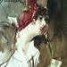 BOLDINI Giovanni - Jeune Femme coiffée d'un Chapeau rouge tenant un Sac rouge (Louvre RF39193) - Detail 13