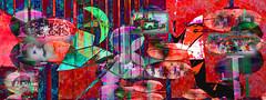 Compartimentada (seguicollar) Tags: ciudad city arquitectura burbujas verjas gente imagencreativa photomanipulación art arte artecreativo artedigital virginiaseguí people diversidad color colorido rojo red