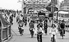 Rush Hour in China 1985 (gerard eder) Tags: world travel reise viajes asia eastasia easternasia china guangzhou bicycle bridges bw traffic blackandwhite blackwhiteblanco negroswblack whiterush houroutdoorstädtestreetstreet lifestadtlandschaftciudadescitycity view cityscape