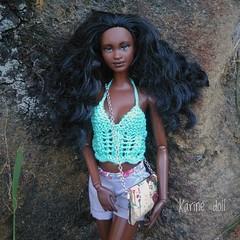 Jara (Karine'S HCF (Handmade Clothing & Furniture)) Tags: barbie handmade vestido hecho amano top punto dress naturaleza ooak