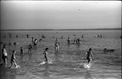 Balaton (Arpádkoos) Tags: balaton beach whater blackandwhite zenit xp12 float