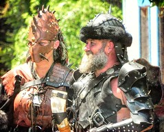 All Dressed Up (clarkcg photography) Tags: man woman couple warriors ancient armor leather battle renaissance crazycouple smileonsaturday crazycouples castleofmuskogee oklahomarenaissancefestival