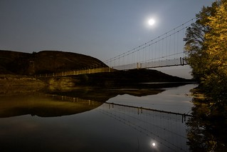 Rosedale Suspension Bridge moon