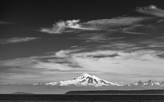 Mount Baker (schoeband) Tags: mountbaker volcano bw rosariostrait washington unitedstatesofamerica usa