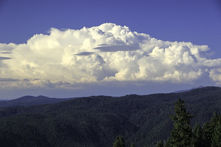 Thunderstorms over Plumas County