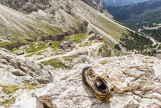La scarpa abbandonata