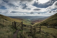 Fairbrook Gate.... (johngregory250666) Tags: yellow orange nikkor hiking walking lines clouds sky blue moss lichen out brook glow grass imagesofengland amazing sunlight water light sun outdoor grassland field landscape hill trees plant serene moors ridge great national park mountain moor moorland dale new d5200 rock formation rays edge heather tor world pass outside cloud temperature view peak district long england north overcast path flickr bright derbyshire