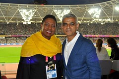 Sport Minister making the rounds at the IAAF World Athletics Championships