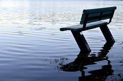 Alone (Captions by Nica... (Fieger Photography)) Tags: water lake bench ripples nature outdoor quebec canada