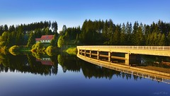 Trogfurter Brücke (AndyW Harz) Tags: talsperre spiegelung reflection deutschland germany staumauer harz wandern hiking