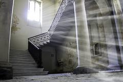 Abandoned (MarcoPistolozzi) Tags: canoneos700d samyang14mm abbamdono degrado villa macabro ingressovietato vietato colonne scale step luce fantasmi ricordo photos