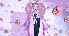 Unravel (Kasumy Haiku) Tags: second life secondlife game avatar 3d cute kawaii korea japan pink catwa head flowers flower violet purple pinkhustler hazy moremore