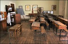 Schooldays Recreated (Canis Major) Tags: blaisecastle museum recreation schoolroom desks victorian schooldays