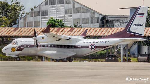 Royal Thai Police Wing, CASA CN-235M-220, 28064, N064, August 2017