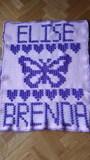 Butterfly blanket for Elise