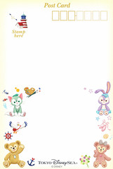 Duffy & friends postcard (House Of Secrets Incorporated) Tags: postcard tokyodisneysea tokyodisney disney duffythedisneybear duffy bear teddybear shelliemay stellalou gelatoni cat cats bunny bunnies rabbit rabbits