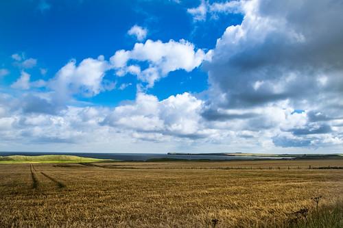 North Sea coast and countryside