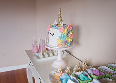 Unicorn and Pastel Birthday Party (KiwiMiriam) Tags: birthday desserttable party decorations cake unicorn cakepops cupcakes pink blue green yellow