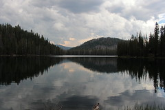 Lower Twin Lake, as the afternoon storm rolled in (rozoneill) Tags: lassen volcanic national park wilderness redding chico california hiking pacific crest trail backpacking cascades volcano peak