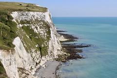 White cliffs of Dover (Mru K) Tags: blue water beach dover white whitecliffs chalk coastline english british unitedkingdom england englishcoastline cliffs coast