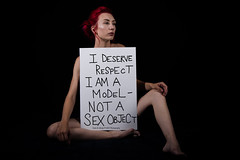 I am a Model, Not a Sex Object! (Dana Brady -Thank you for 1 million views) Tags: power emotions strength fear abuse
