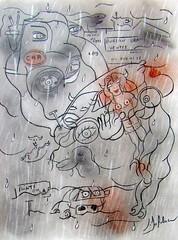 LA QUÊTE (Claude Bolduc) Tags: dessin drawing artsingulier outsiderart horsnorme visionaryart lowbrow intutiveart artbrut