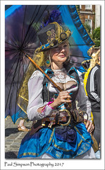 Steampunk Lady (Paul Simpson Photography) Tags: steampunk steampunks lincoln august paulsimpsonphotography lady streetphotography sonya77 sonyphotography bluedress fancydress costume makeup umbrella tophat niceclothes imagesof imageof photoof photosof nicedress posh lincolnshire people