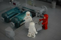 Medical bay - conference (adde51) Tags: adde51 lego moc medical bay hangar doctor medpod classic space scifi science fiction minifigure toy classicspace sciencefiction rover transport