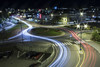 Skien City Roundabout (w00tever) Tags: skien telemark norway 700d sigma1020mm night traffic longexpo