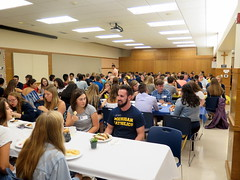 welcome bbq in newman hall