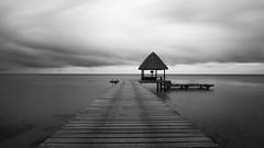 Kia Ora Resort @ Rangiroa (Dario Manuppella) Tags: honeymoon longexposure long exposure blackwhite black white nd400 hoya bw storm wind sea pier boat sub polynesia french frenchpolynesia tuamotu moorea borabora rangiroa