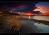 9.2013 - Shell Bay (Pawel Tomaszewicz) Tags: hdr dri hdri sunset sunrise post sky clouds chmury colors lights scape landscape night long exposure case dorset niebo colours kolor kolory cliff cliffs klif klify poole bournemouth weymouth countryside lulworth east west cove pier jetty molo