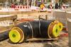 tube disasters (Rasande Tyskar) Tags: tube tunes tiefbau fernwärme district heating baustelle building site colours yellow gelb farbe