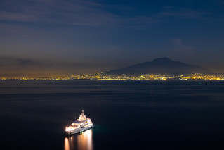 Bay of Naples at night