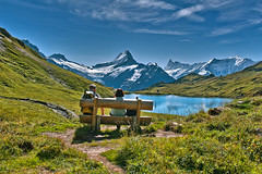 Take a brake  , First  (Grindelwald, Canton of Bern )Bachsee .Switzerland. Izakigur  26.08.15, 11:48:17 No. 9084.. (Izakigur) Tags: izakigur pro 3mo switzerland svizzera lasuisse lepetitprince helvetia liberty flickr feel europe europa dieschweiz ch musictomyeyes nikkor nikon suiza suisse suisia schweiz suizo swiss سويسرا laventuresuisse myswitzerland landscape alps alpes alpen schwyz suïssa d700 nikond700 nikkor2470f28 berneroberland kantonbern bern berna lake water climbeverymountain thejungfrauregion thesoundofmusic