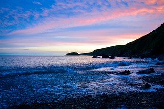Sunset at Porth Ysgo