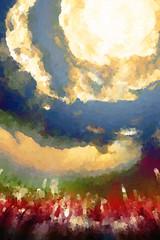 Novam Mortem (Matt Lindley) Tags: impressionism abstract blue yellow green red city sky